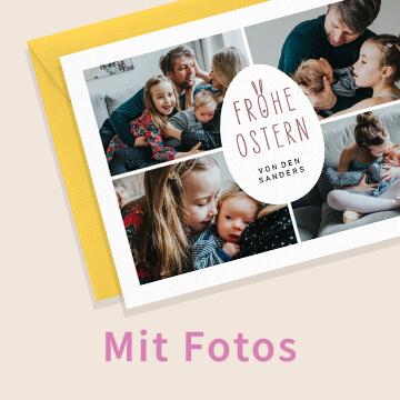 Osterkarten mit Fotos