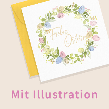 Osterkarten mit Illustrationen
