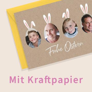 Osterkarten mit Kraftpapier