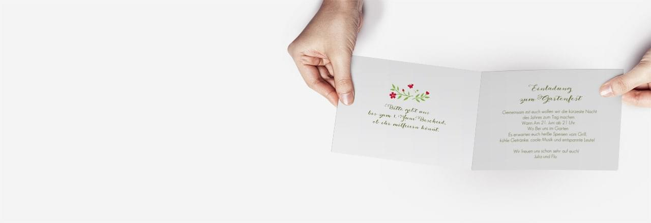 Texte für Einladungskarten