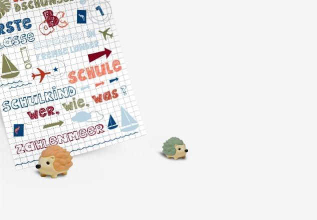 Einschulungskarten in verschiedenen Designs