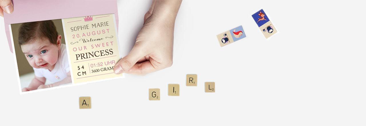 Geburtskarten Mädchen