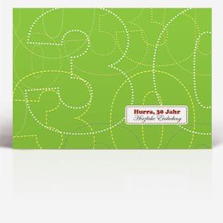 klassische Geburtstagskarten