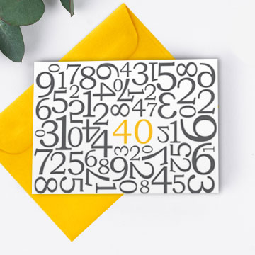 Karten mit Zahlen