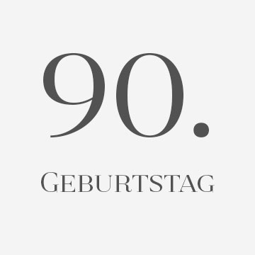 90. Geburtstag