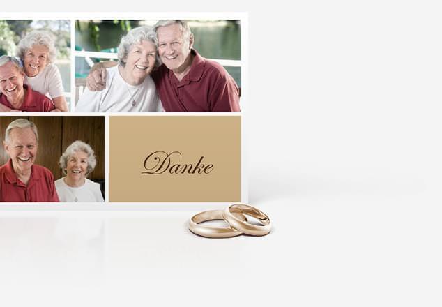 Dankeskarte zur Goldenen Hochzeit