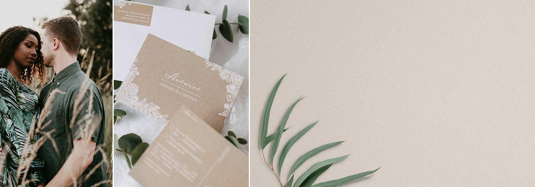 Antwortkarten zur Hochzeit