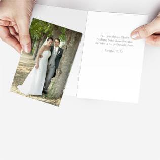 Blanko Danksagungskarten für die Hochzeit
