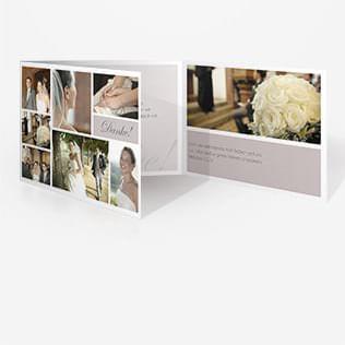 Hochzeit Dankeskarten Doppelklappkarte