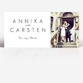 Hochzeit Dankeskarten Postkarte