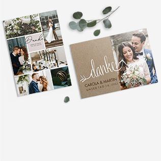 Danksagungen zur Hochzeit
