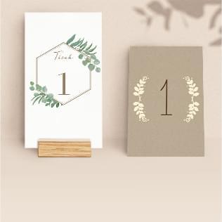 Tischnummern für die Hochzeit