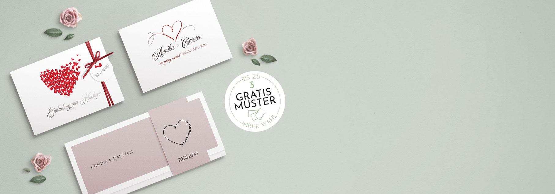 Klassiker Hochzeitseinladungskarten