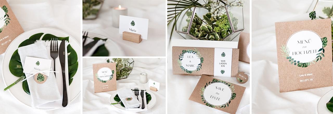 Greenery-Leaves-Hochzeitseinladung