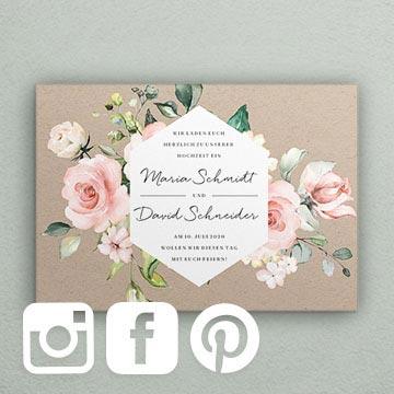 Hochzeitseinladungen Social Media