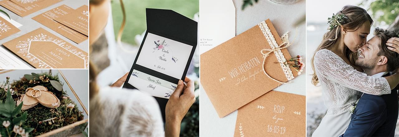 Hochzeitseinladungen Individual