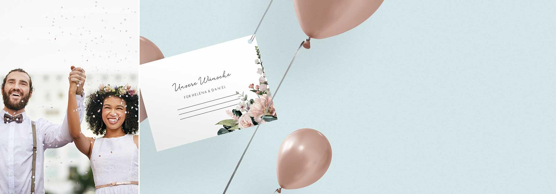 Hochzeit Ballonkarten