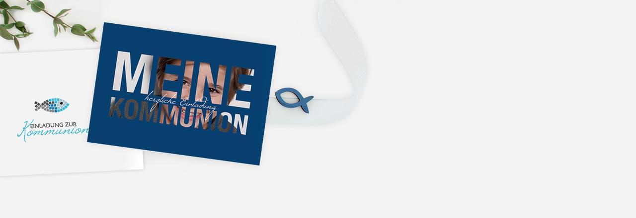Einladungskarten zur Kommunion