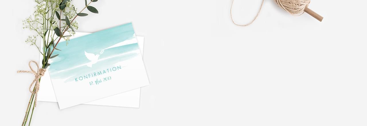 Einladungskarten zur Konfirmation