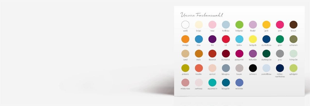 Viele Farben und Formatvarianten