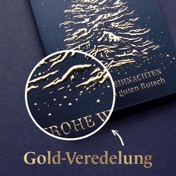 Mit Goldveredelung