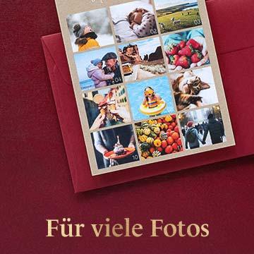 Weihnachtskarten mit vielen Fotos