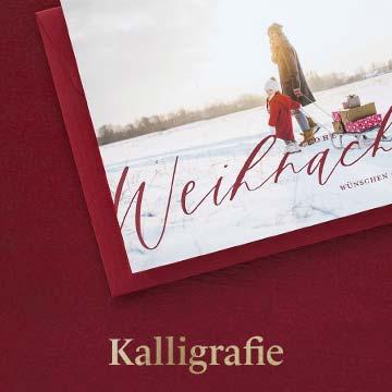 Weihnachtskarten mit Kalligrafie selbst gestalten