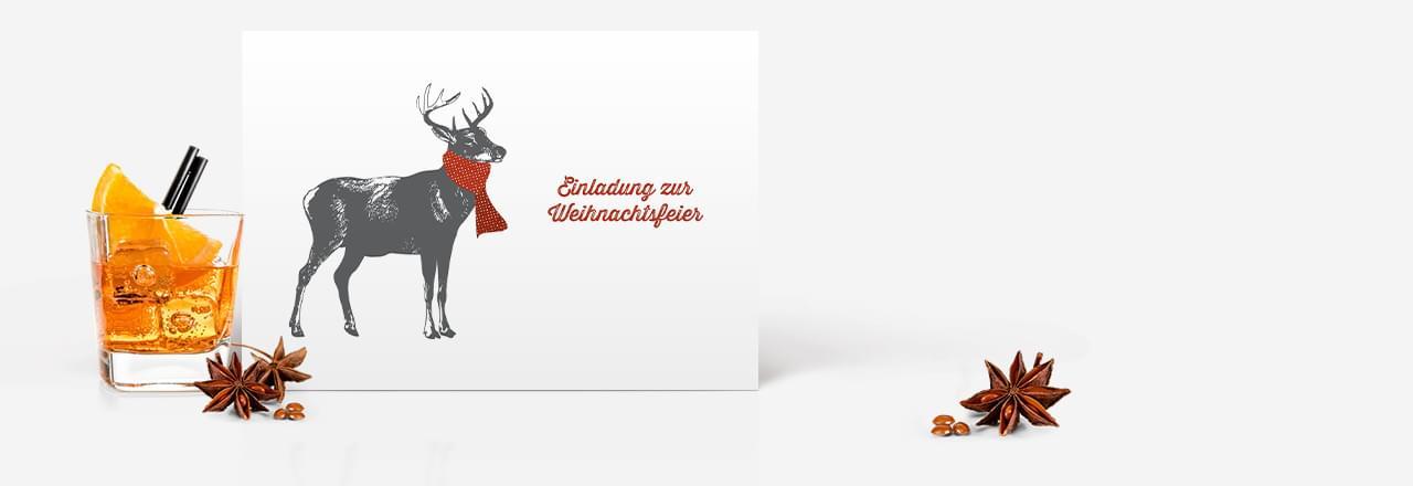 Einladungskarten zur Weihnachtsfeier