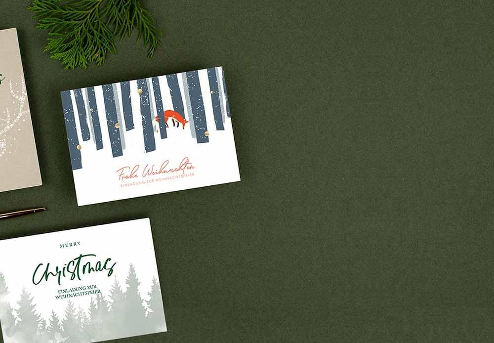 Gratis Muster für Einladungskarten zur Weihnachtsfeier