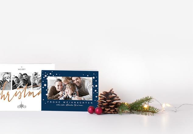 weihnachtskarten selbst gestalten lieferung in 1 2 tagen. Black Bedroom Furniture Sets. Home Design Ideas