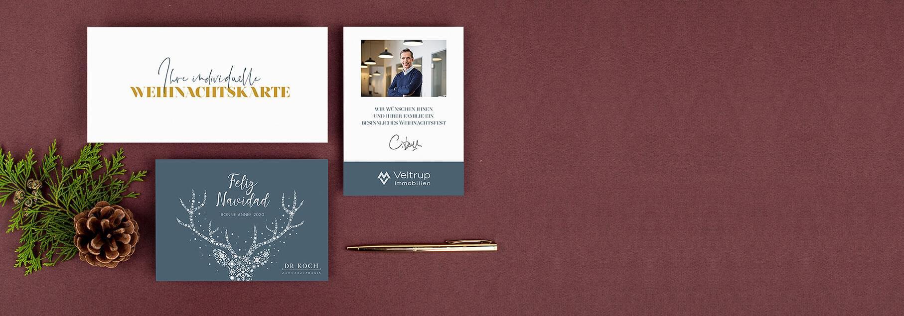 Gestaltungsservice Geschäftliche Weihnachtskarten