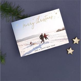 Weihnachtskarten mit Veredelung