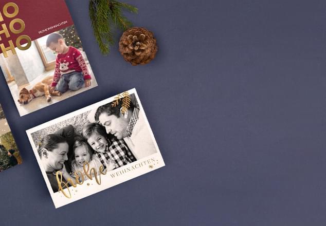 Private Weihnachtskarten mit Foto selbst gestalten