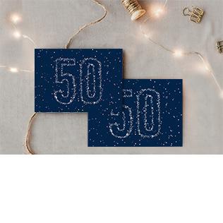 Carte invitation anniversaire 50 ans doré