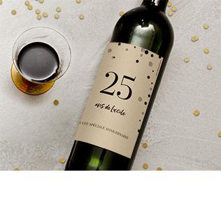 étiquette bouteille collection anniversaire