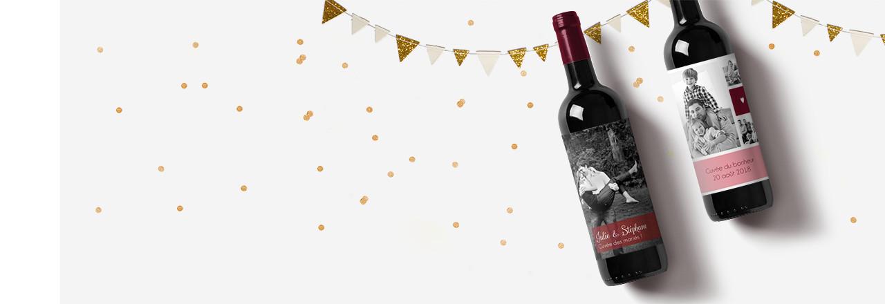 Étiquette bouteille pour toutes les fêtes