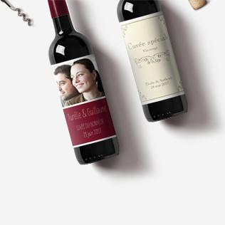 Etiquettes pour bouteilles avec photo