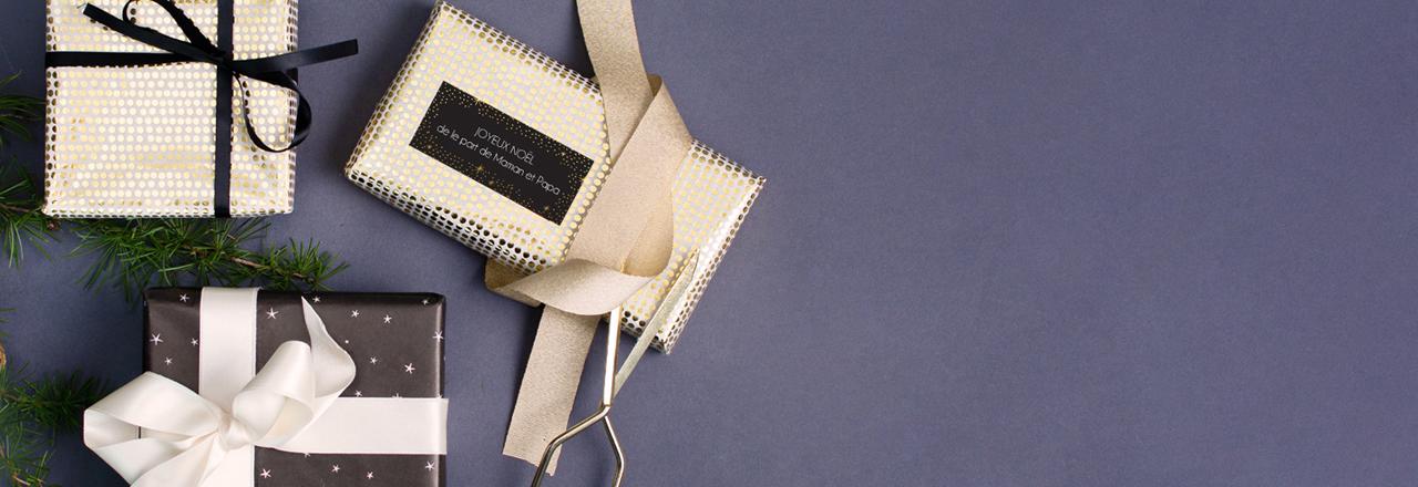 Étiquette pour cadeaux de noël