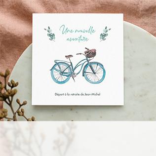 Invitation départ à la retraite vélo