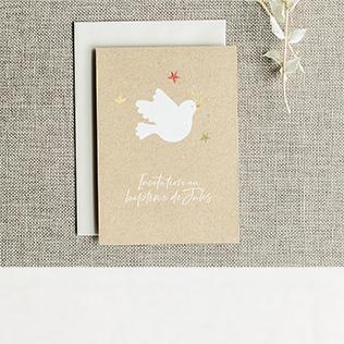 Faire-part baptême colombe