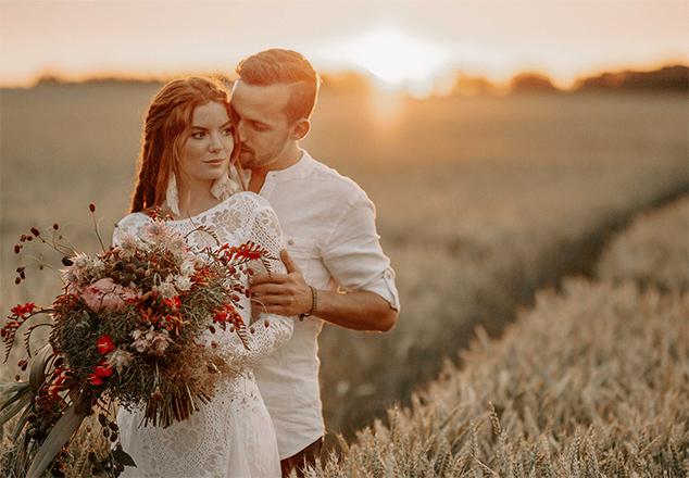 Faire-part mariage photo mariés