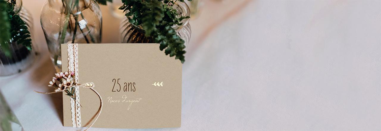 Carte d'invitation anniversaire mariage ructic love
