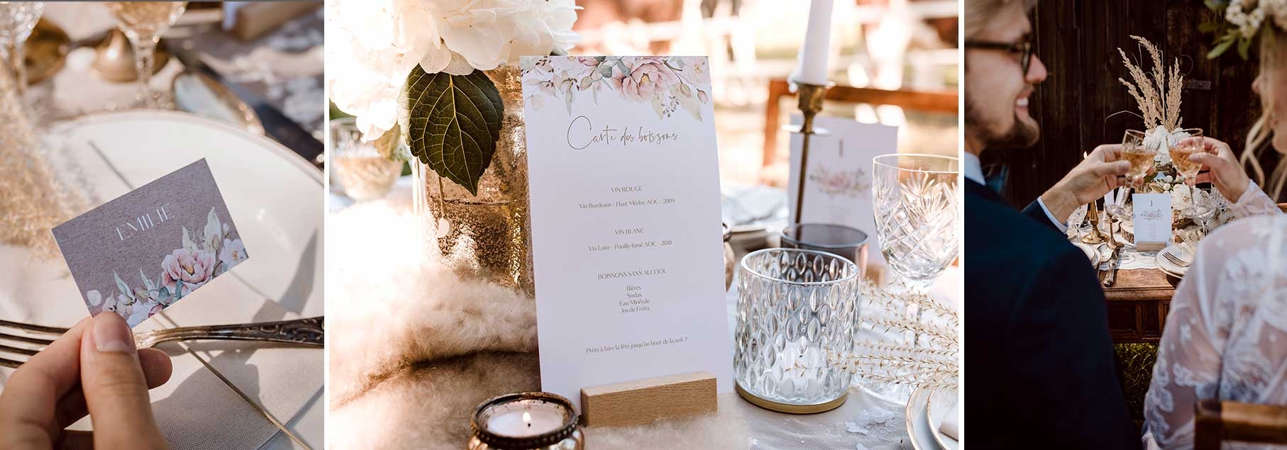 inspiration décoration table mariage