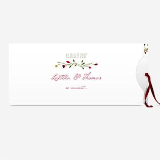 Faire-part mariage - format pochette