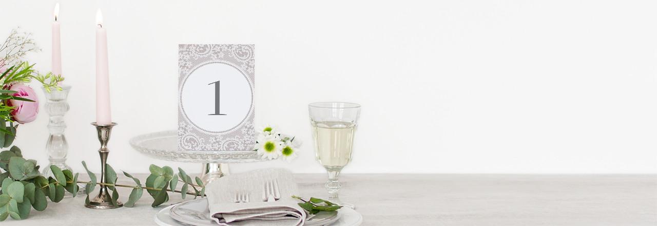Numéro de table mariage