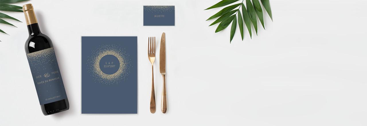 Collection de papeterie mariage pour la décoration de table