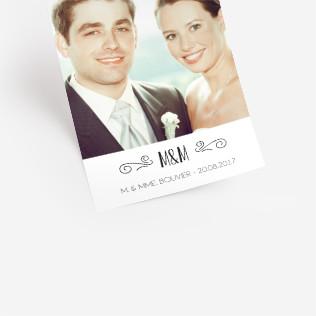 carte postale - Photo Remerciement Mariage