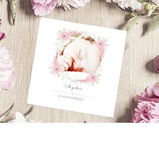 Faire-part naissance fleur