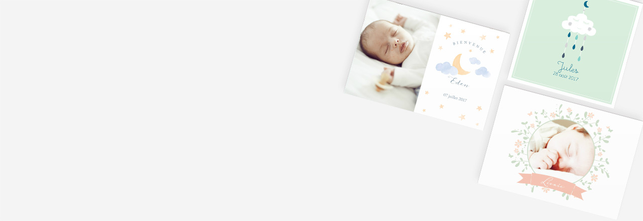 Choix format faire-part naissance