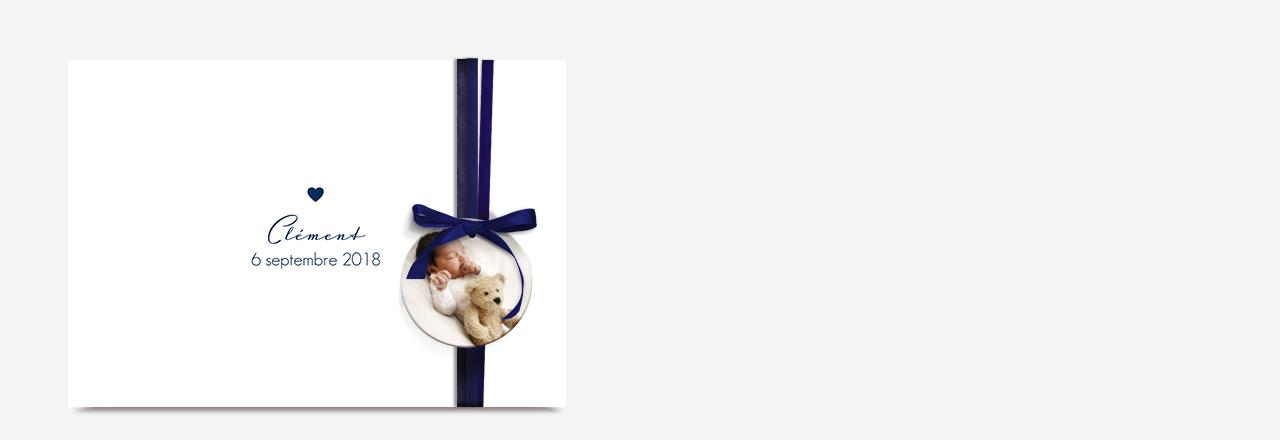 Faire-part naissance classique